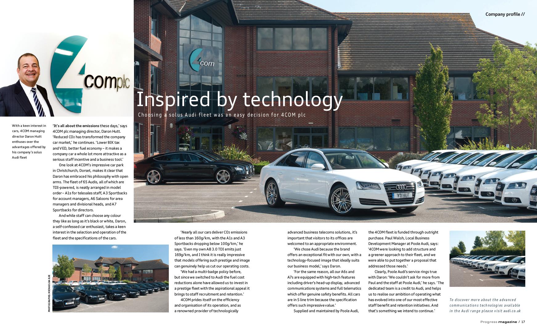 Com Appointed Audi Brand Ambassador Com Inspiring Connectivity - Audi car that parks itself