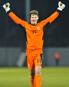 Monty celebrating success V Scotland