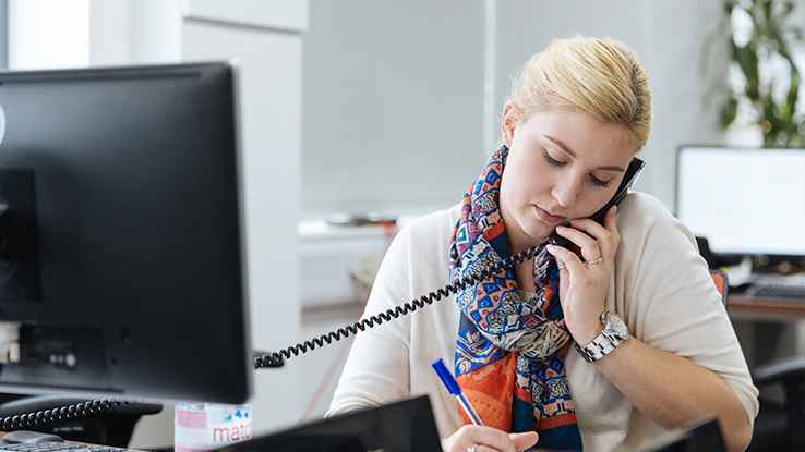 Business phone system call recording