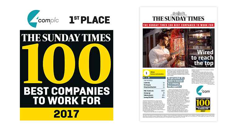 Sunday Times Best Company to Work For 2017